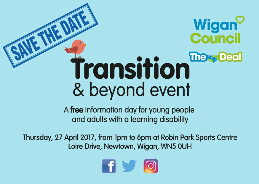 Transition and beyond event - Wigan Council 2017 Header Image